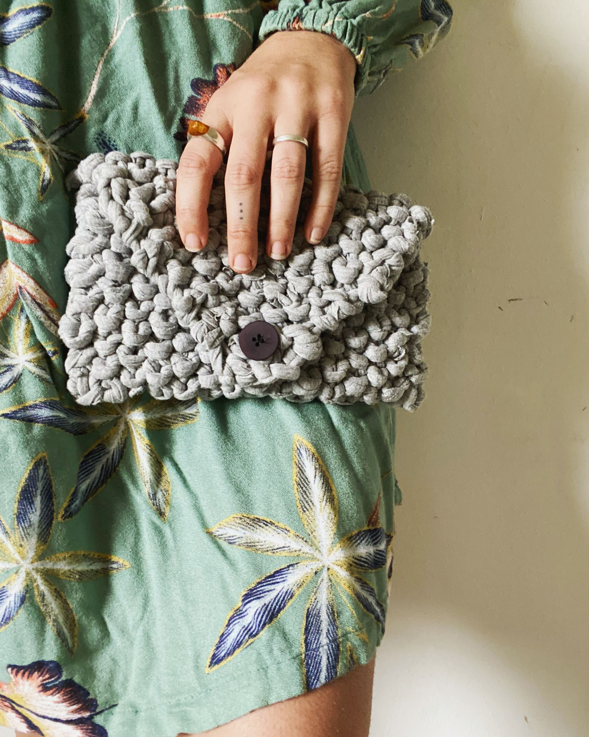New Video Blog: Knitting a Clutch with Upcycled Material